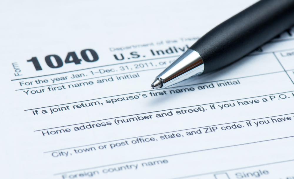 The yearly income tax form in the U.S.
