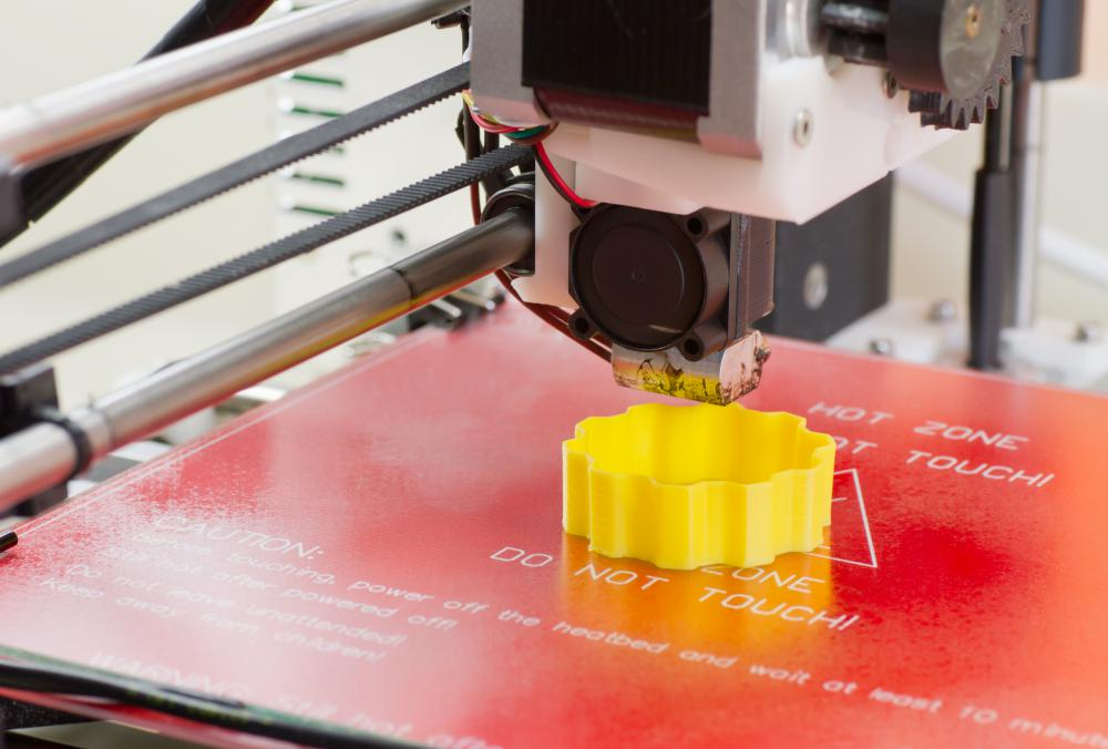 3D printers use liquid or powdered plastic to create three-dimensional objects.