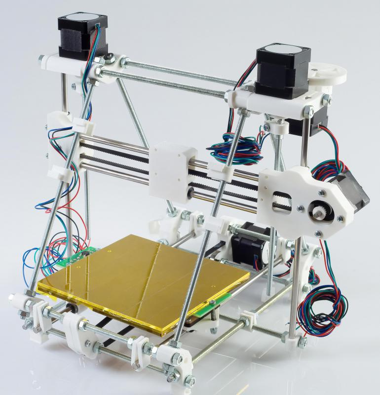 3D printers can be used to create models or products directly from digital designs.