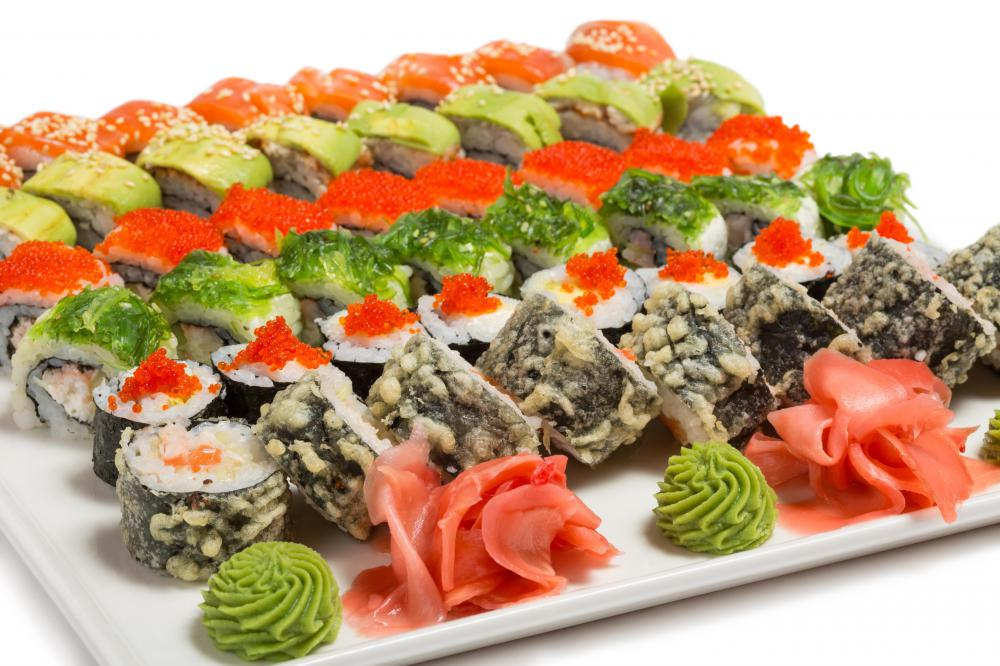 Shiitake mushrooms are often used in sushi dishes, among many other types of food.