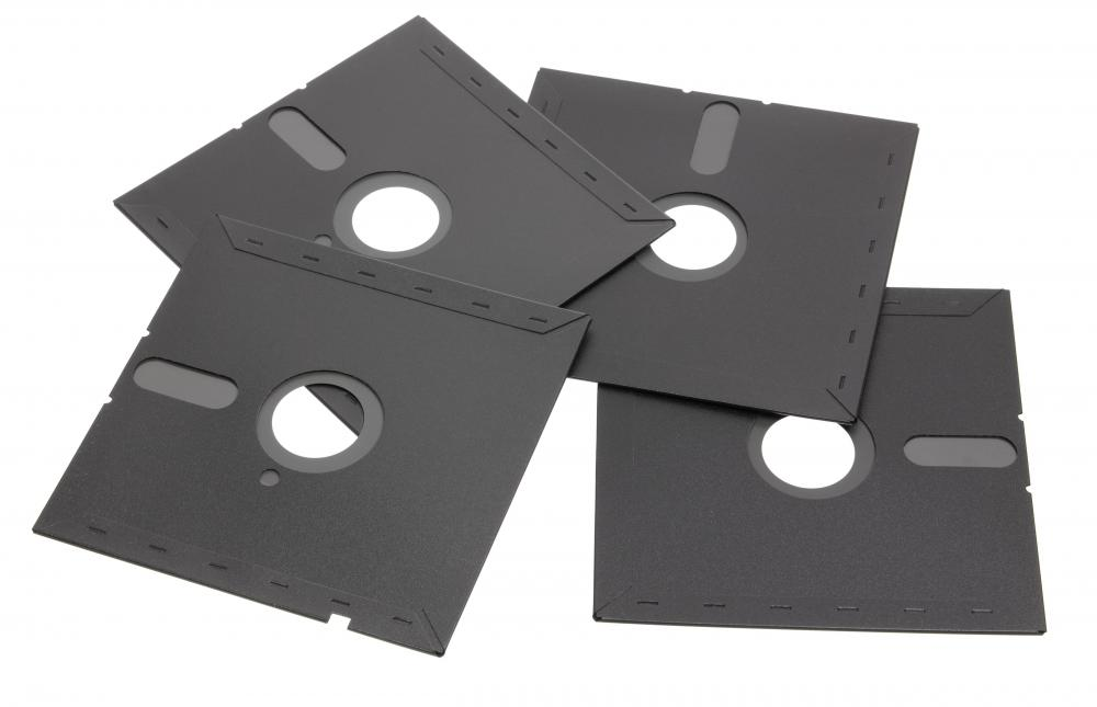 Floppy disks are small, removable, and practically obsolete media storage devices that were originally 8 inches, then later came in 5.25 inches.