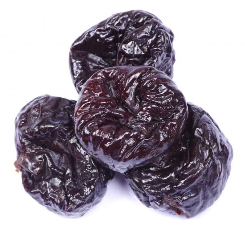 Prunes contain vitamin P.