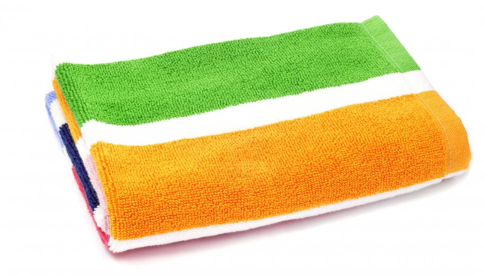 Dish towels are typically smaller than regular towels.