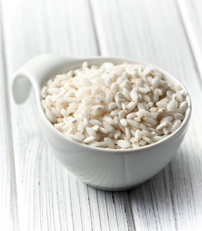 Arborio rice is often recommended for arroz con leche.
