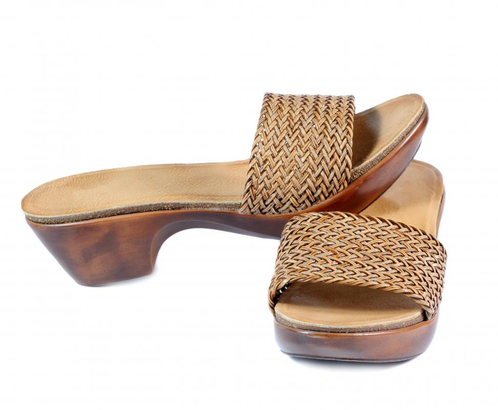 Wearing open-backed shoes may cause dry heels.