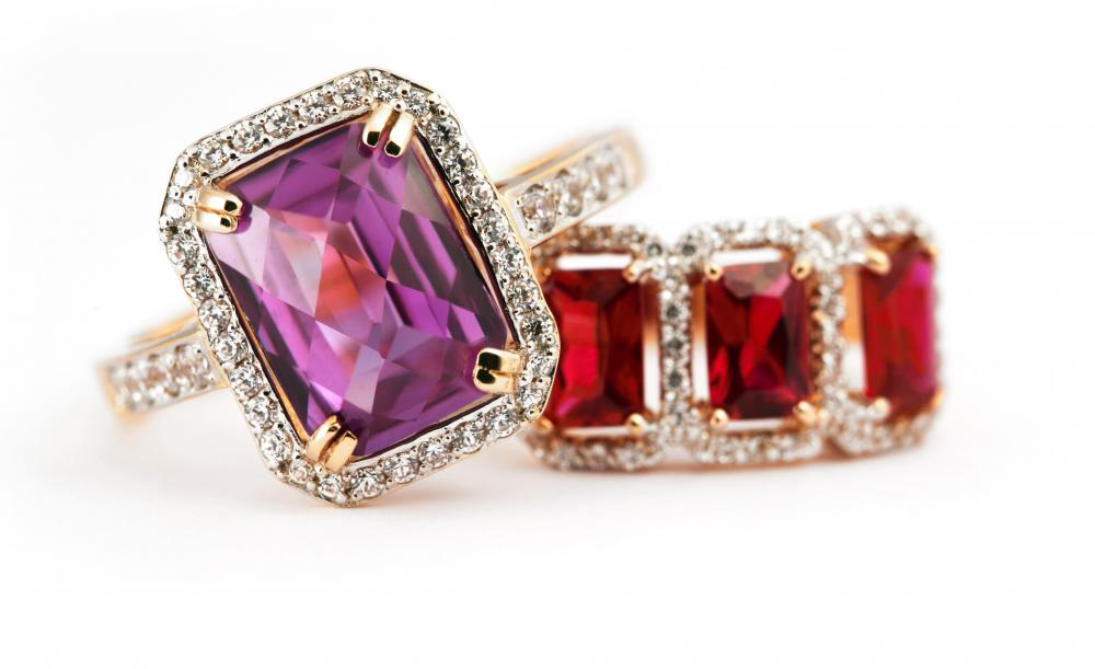 Costume jewelry is jewelry made with inexpensive metals and precious stone imitations.