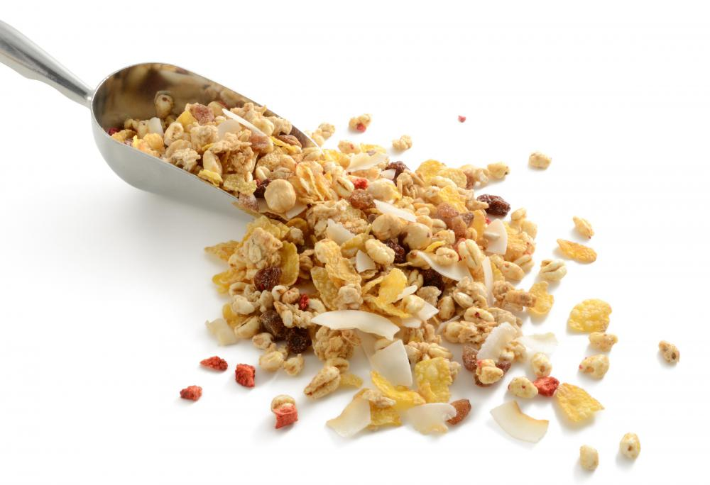 Rye flakes are typically part of muesli.