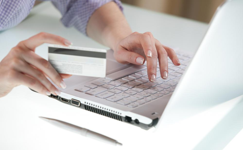 Debit or credit cards are often used for ecommerce transactions.