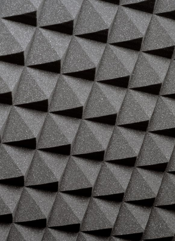 Acoustic foam for soundproofing.