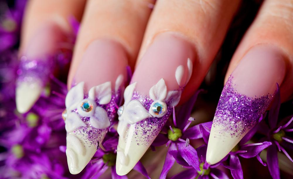 3d nail art is best done with nail glue