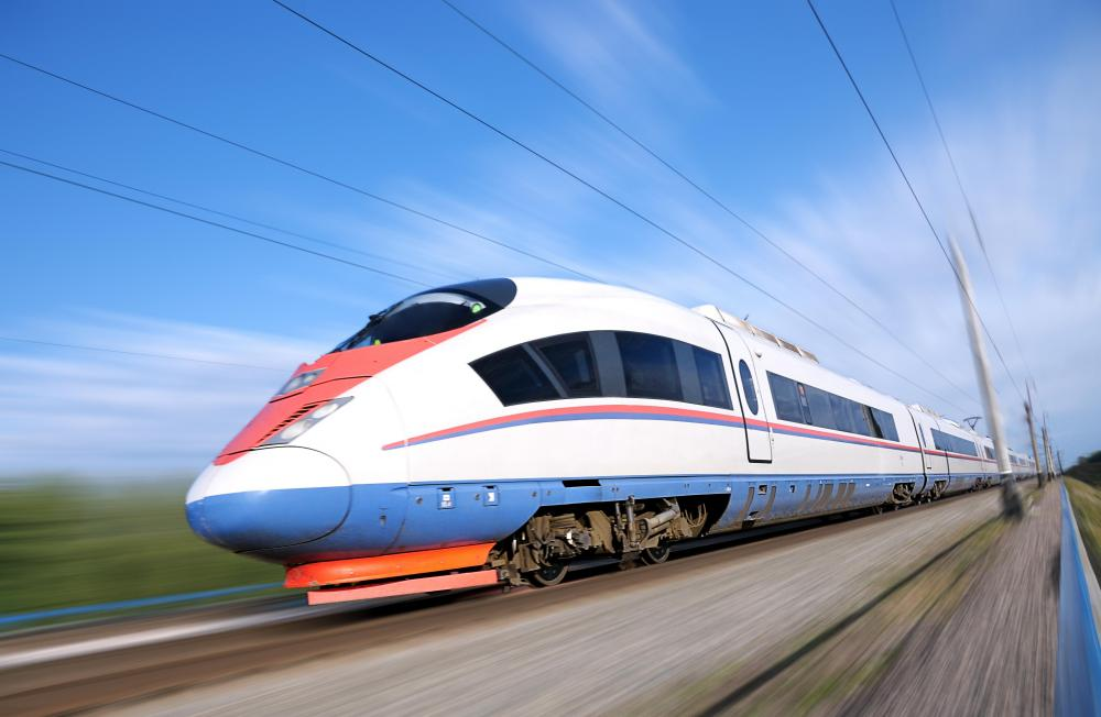 High-speed trains are popular in Europe and Asia.