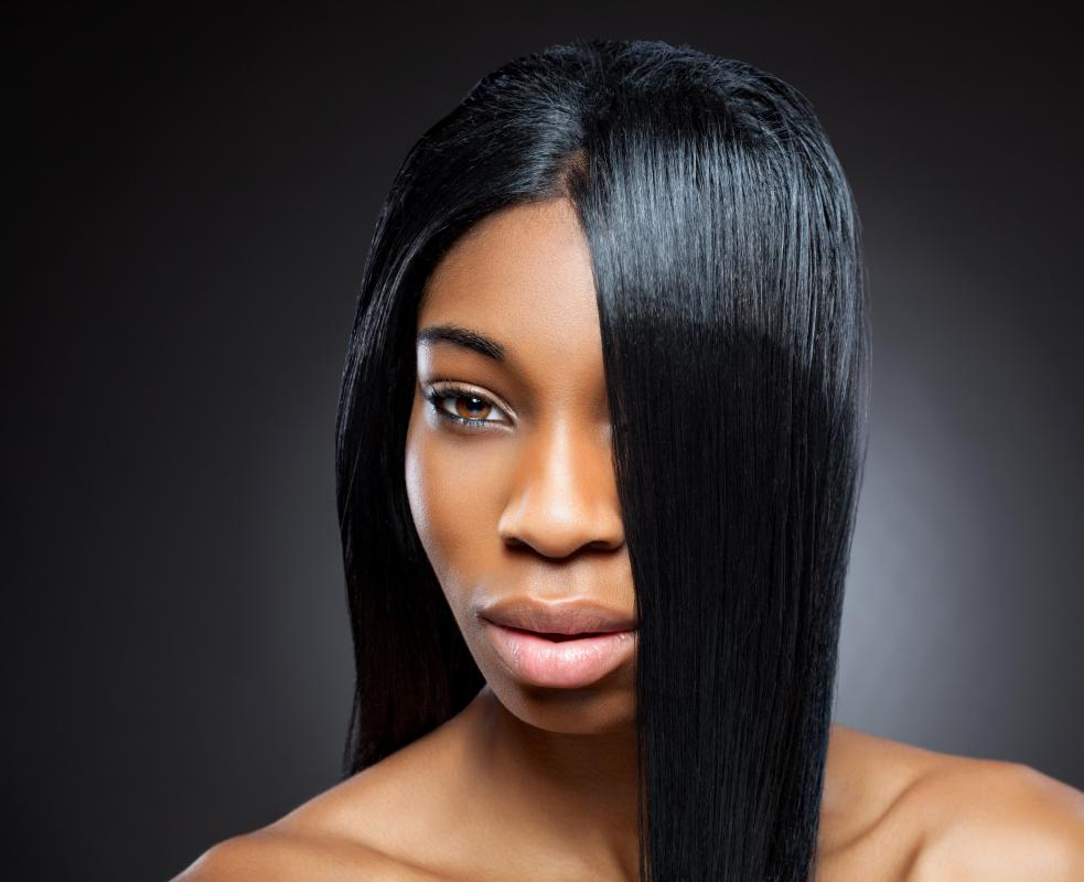 Hair weaves can be for straight or curly hair.
