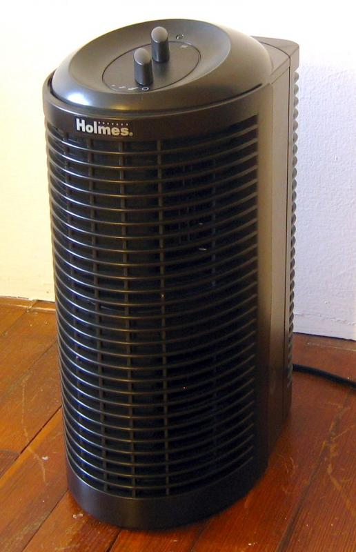 An air filter used to improve the quality of indoor air.