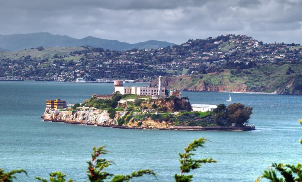 Alcatraz, a prison on an island in the San Francisco bay has been closed since 1963.