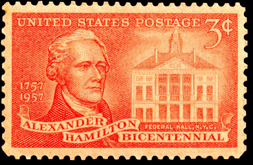 Alexander Hamilton helped to author the Federalist Papers, and would later become the first U.S. Secretary of the Treasury.