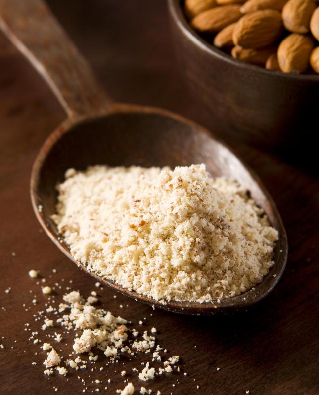 Almond flour contains no gluten.