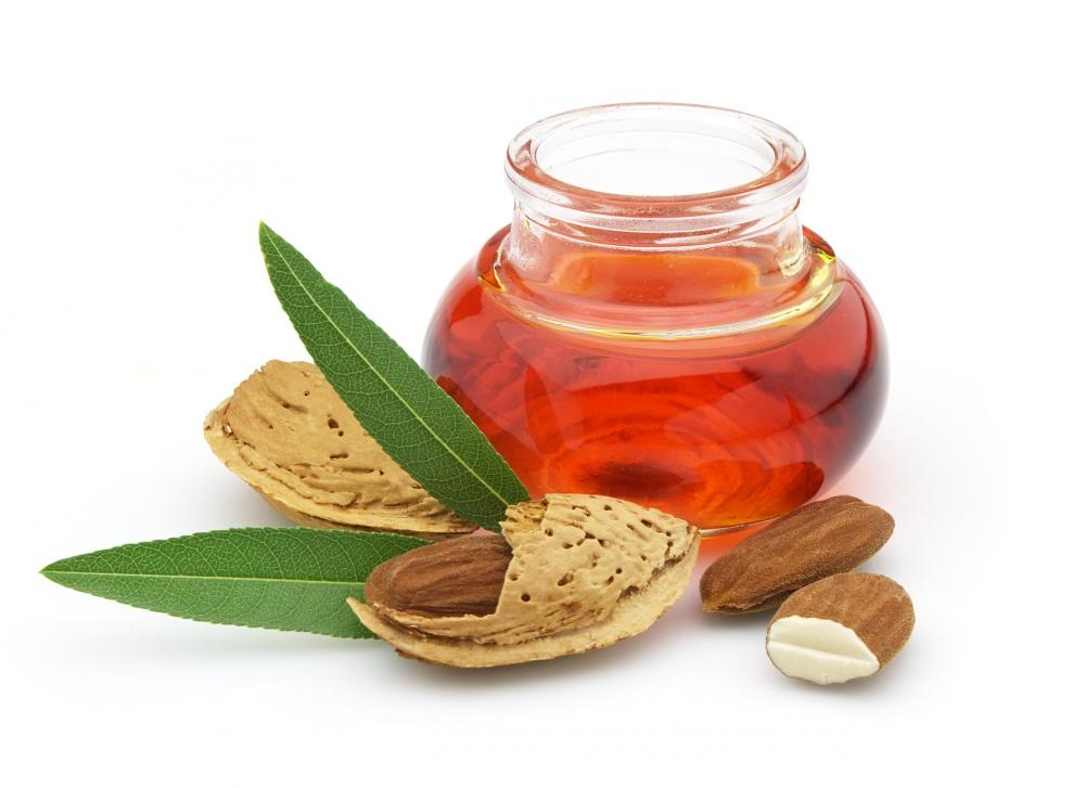 Almond oil is a popular ingredient in body scrubs.