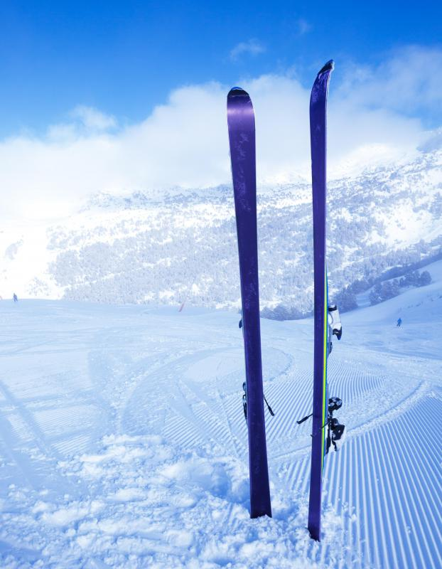 Winter sports like skiing are a great way to stay in shape when it's cold out.
