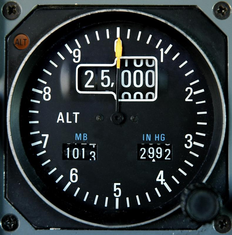 An altimeter is used to measure altitude.