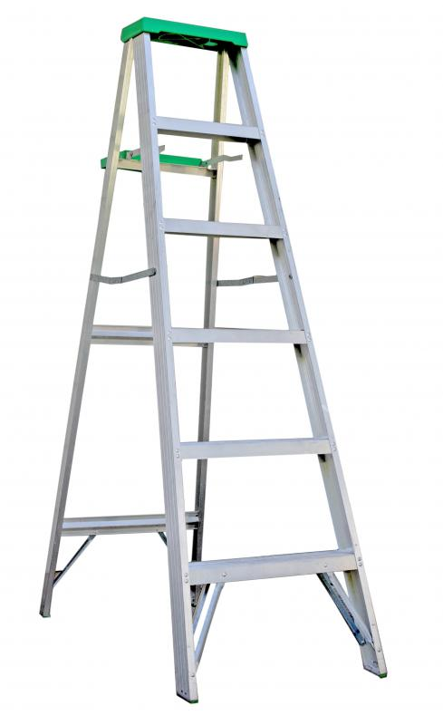 A ladder is needed to reach the ceiling.