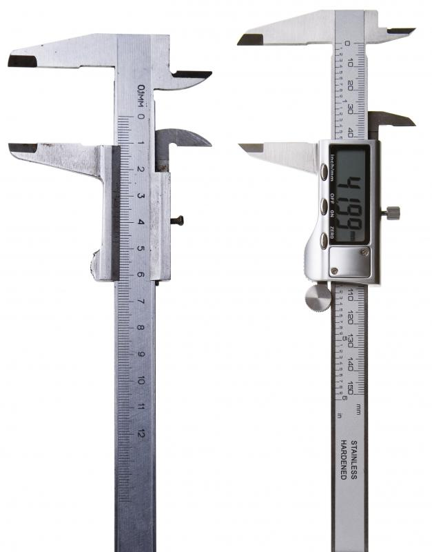 Height gauges are used to take exact vertical measurements in metalworking.