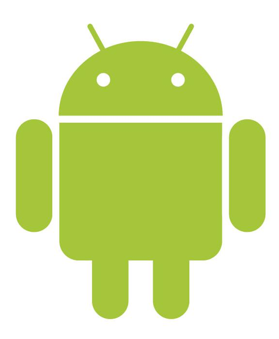 The Android logo represents Android, which is a popular type of smartphone operating system.
