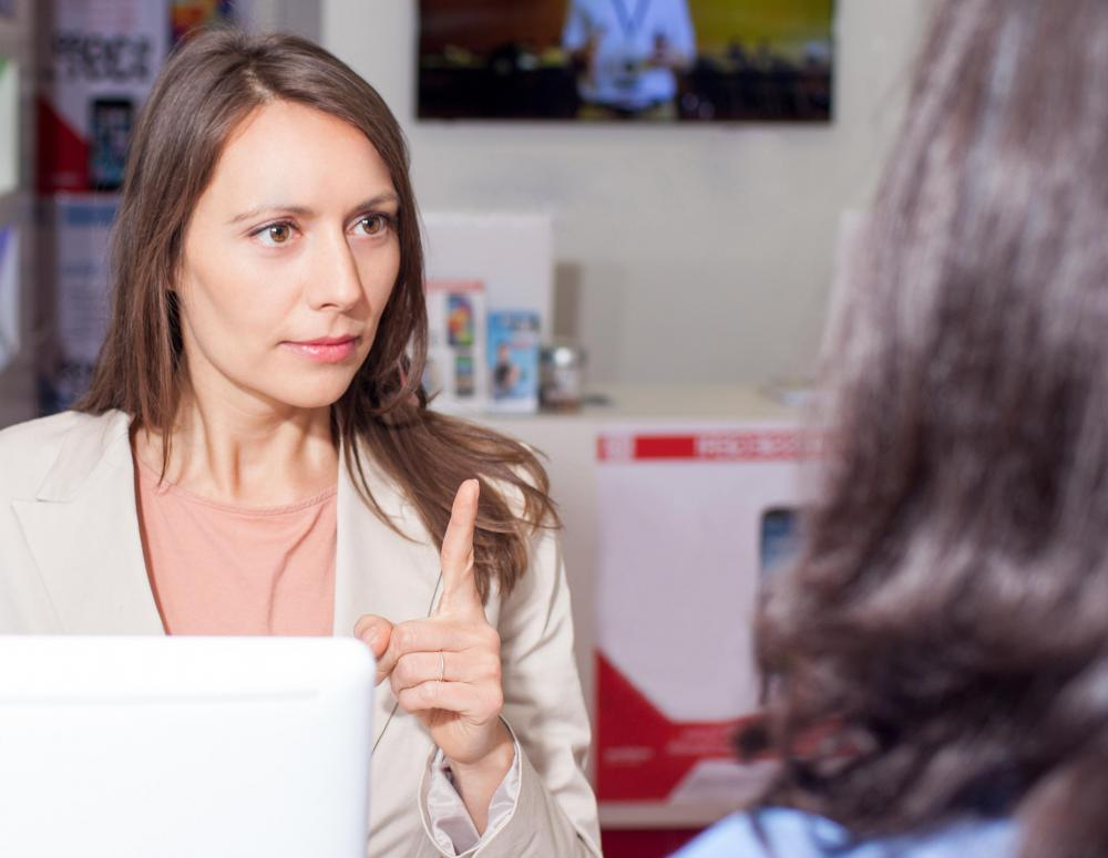 A retail regional manager may handle customer complaints during store visits.