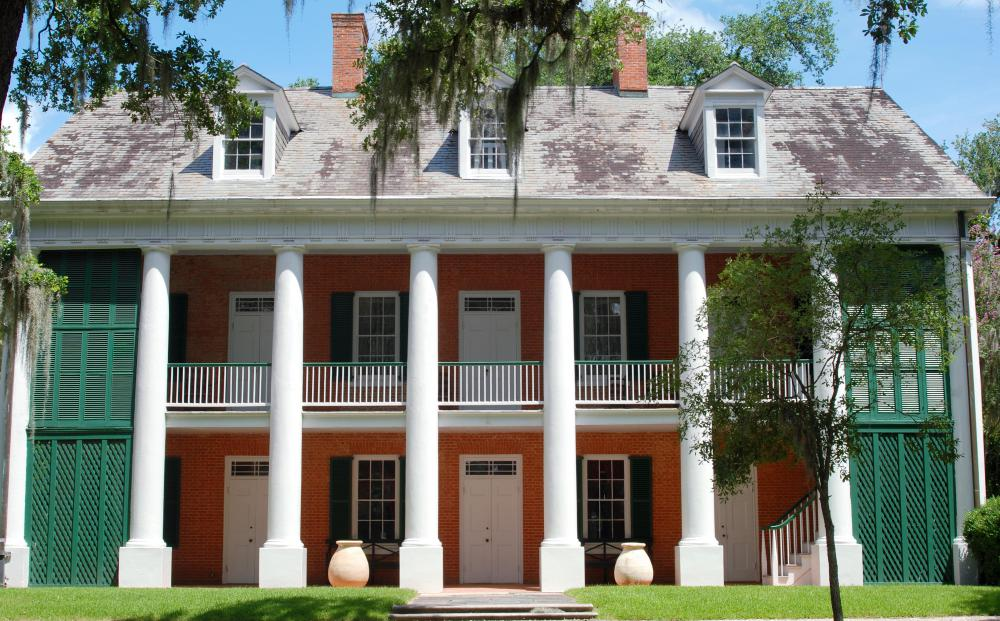 Distinctive period architecture characterized antebellum plantations throughout the South.