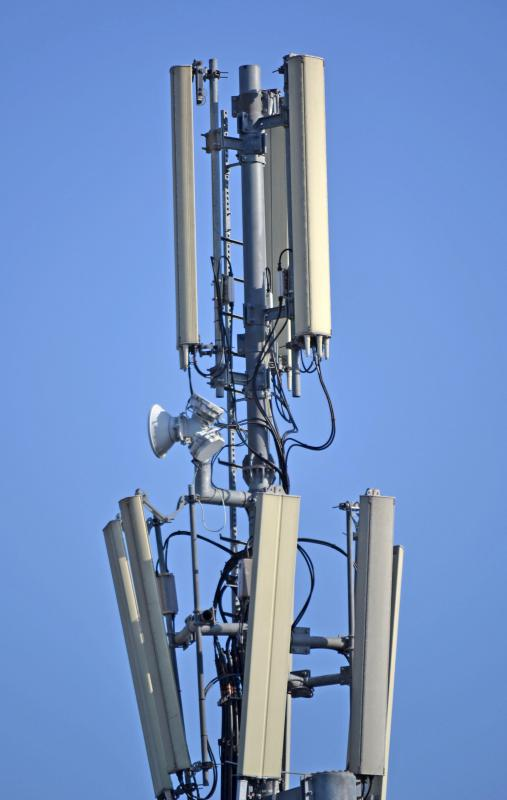 Cell towers may use different types of microwave antennas for voice and data transmissions.