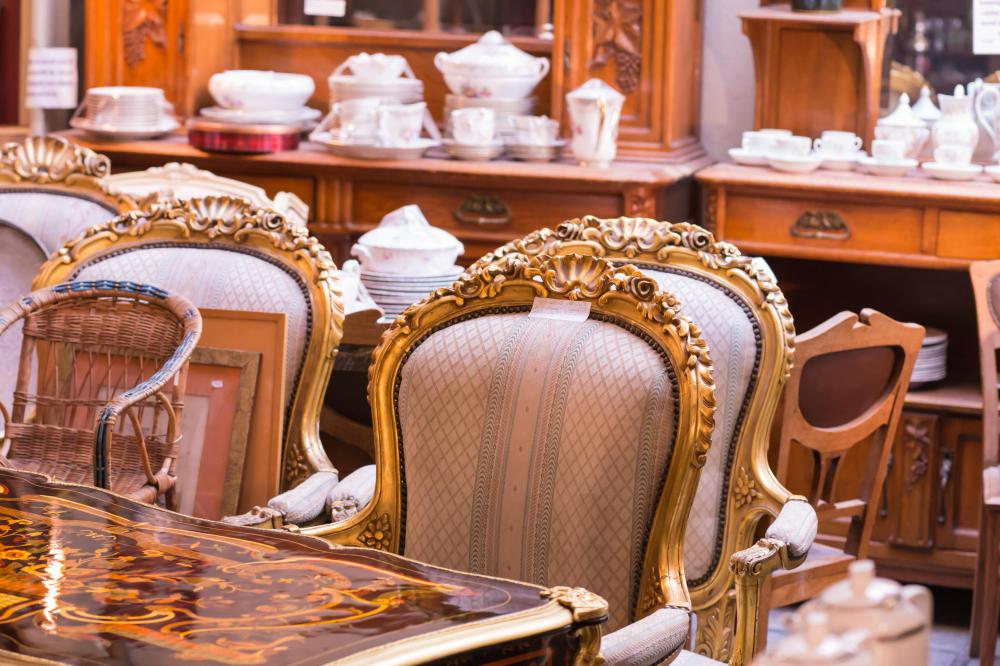 Furniture and dishes can be profitable antiques.
