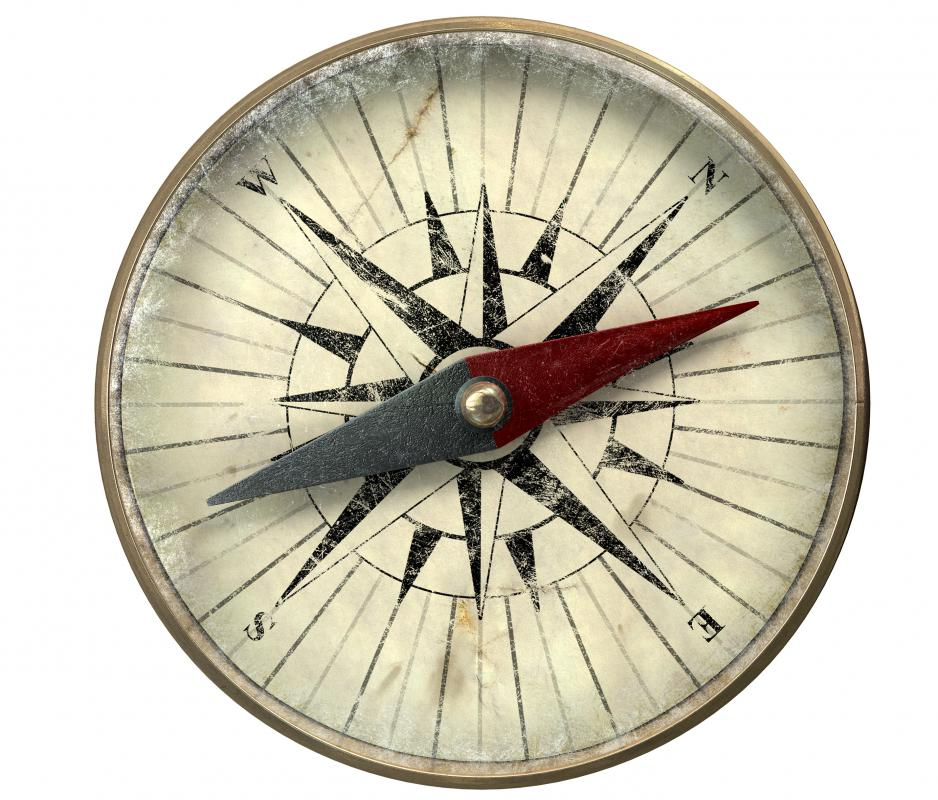 All compasses use the Earth's magnetic field to show direction.