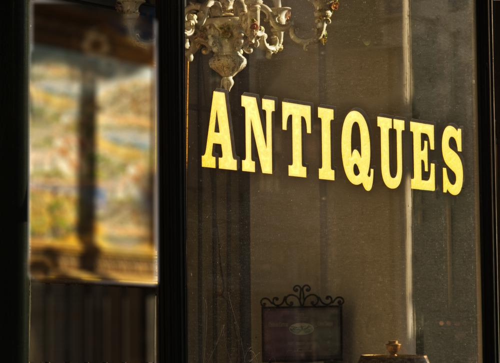 Antique stores commonly offer cut glass for sale.