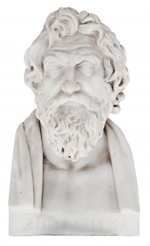 Cynicism, a school of philosophy and social criticism, was founded by Antisthenes.