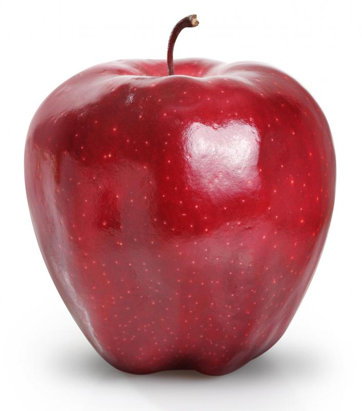 Apples, like this Red Delicious, are a good source of fiber and vitamin C.