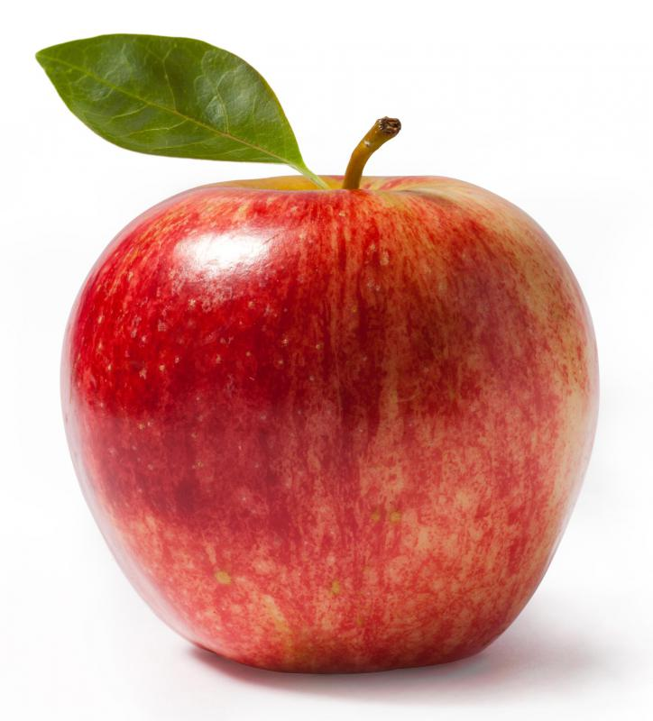 An organic apple.
