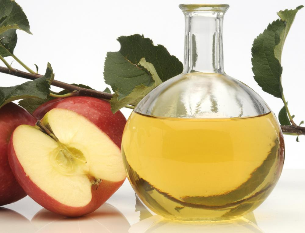 Apple cider vinegar can help soften cuticles.