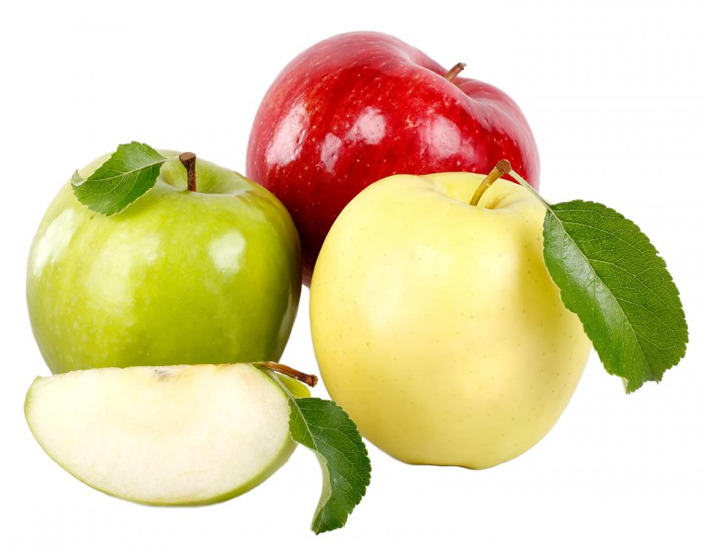 Apples can provide soluble fiber.
