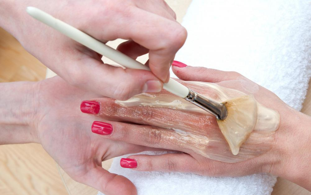 Skin softening treatments may be applied during a manicure.