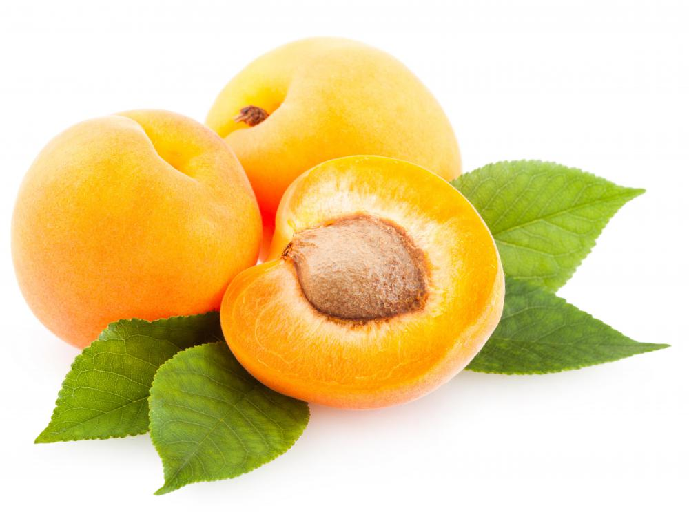 Apricots are cooked down to make glaze.