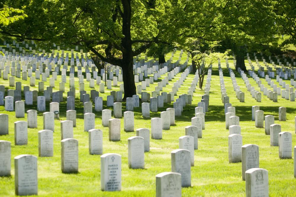 Some of the crew's remains were buried at the Challenger Memorial in Arlington National Cemetery.
