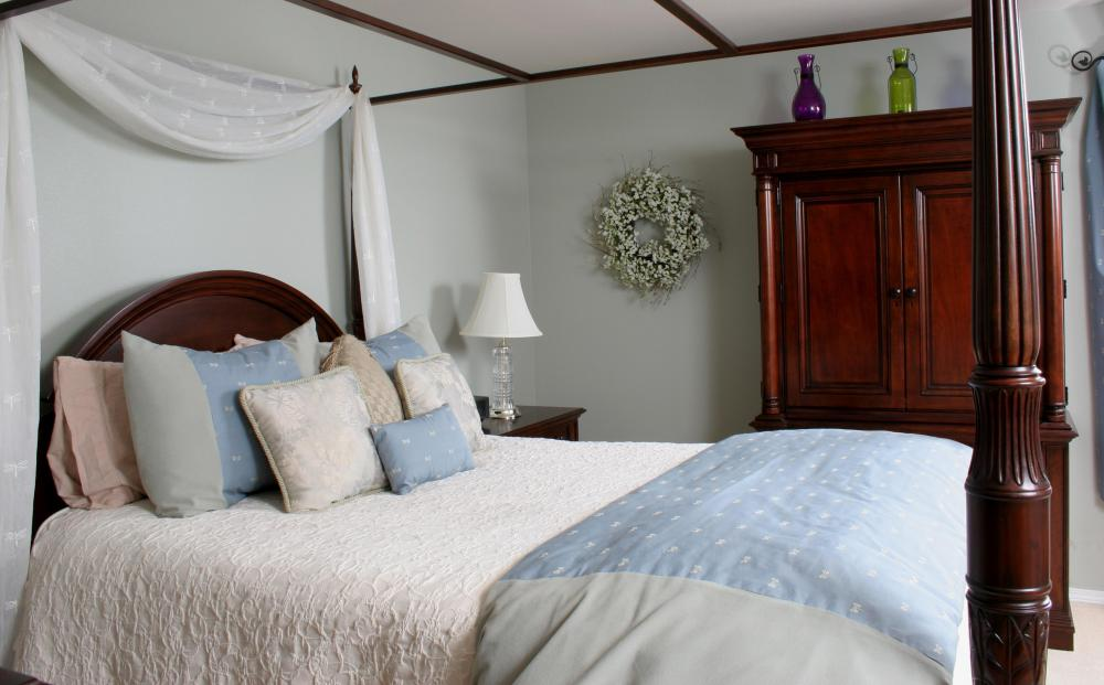 Modern canopy beds are considered stylish focal points to a bedroom set.