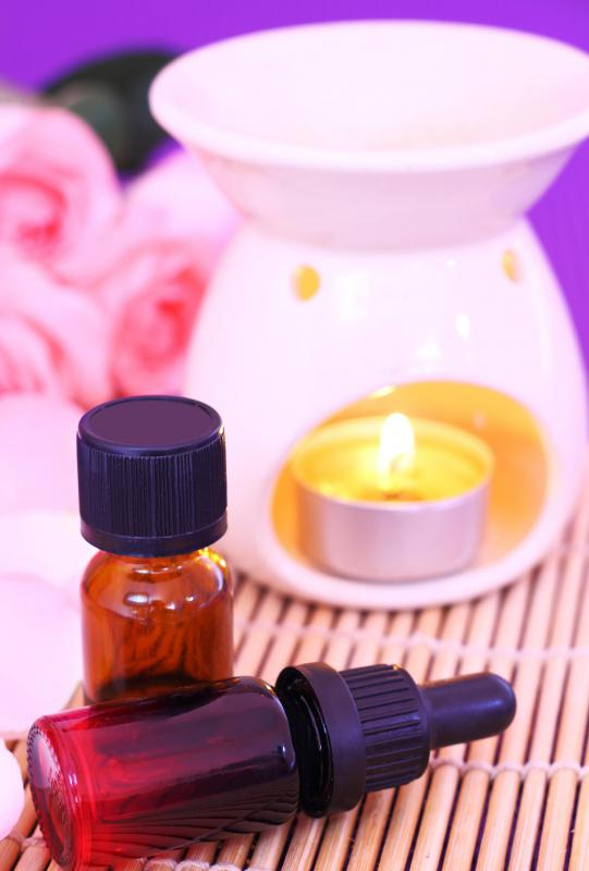Rose oil is one common oil used in aromatherapy.
