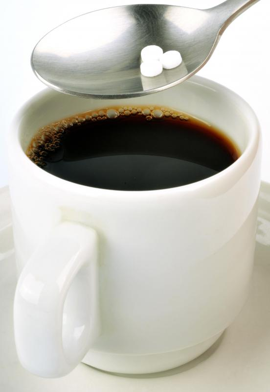 Artificial sweeteners may be used in coffee.