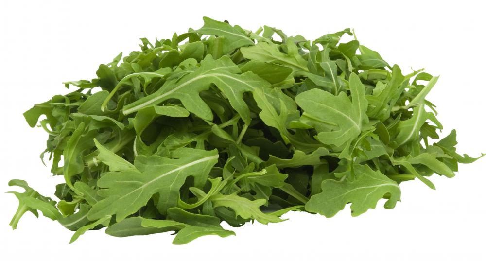 Arugula leaves are often included in mesclun.