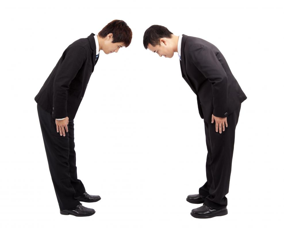 Different cultures have different manners, such as bowing as a sign of respect in Asian countries.
