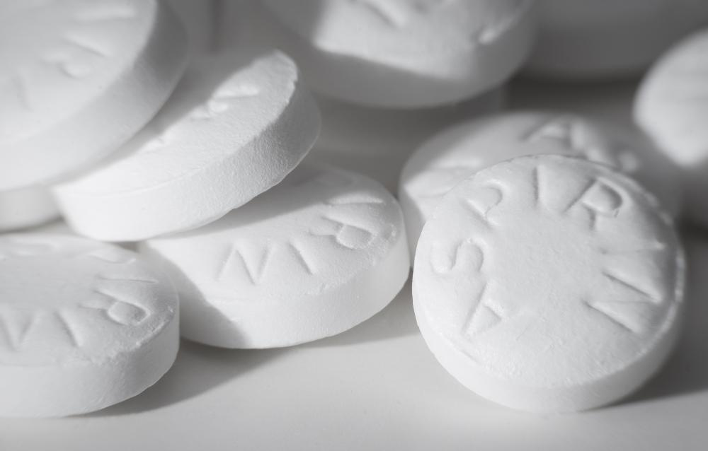 Aspirin can be taken to reduce inflammation caused by gout.