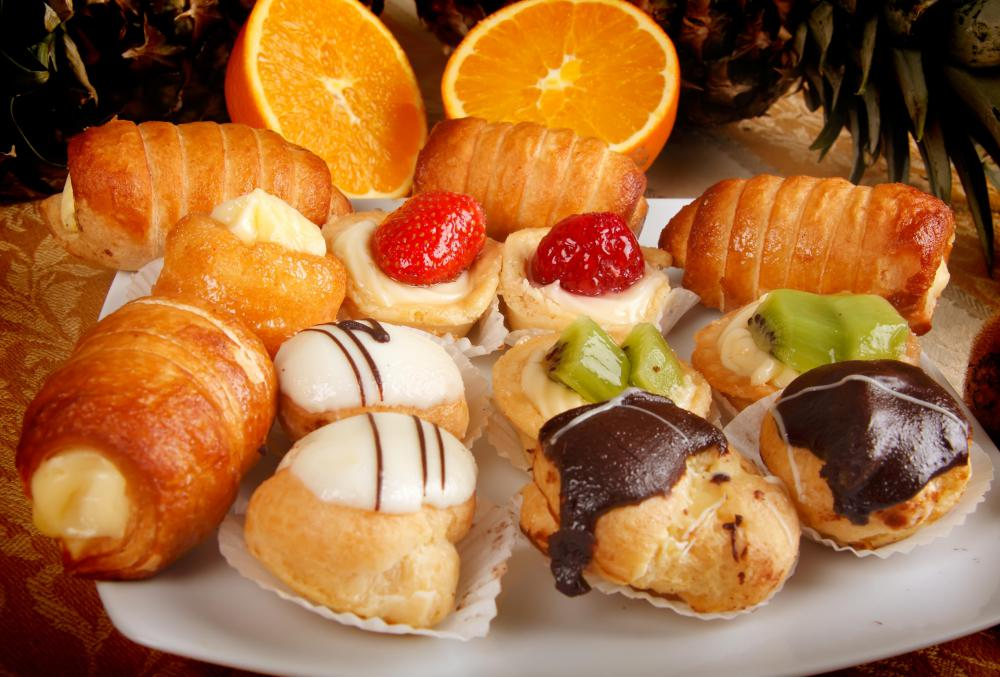 Baked pastries served as small desserts.