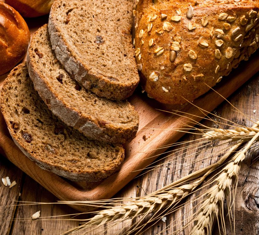 Whole-grain breads and other fibrous products are avoided on the low-fiber diet.