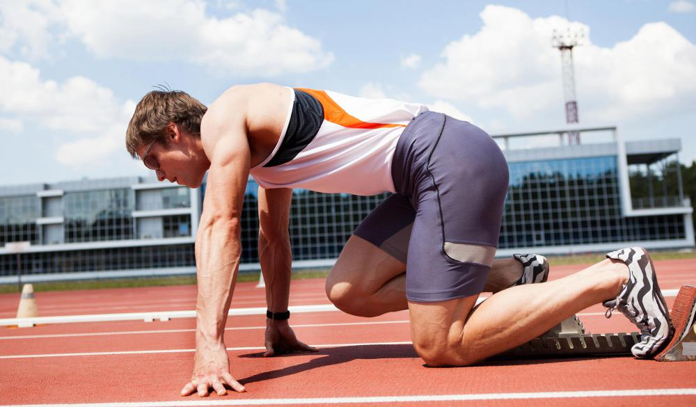 Interval training, one way to prevent a build up of lactic acid, may involve sprinting.