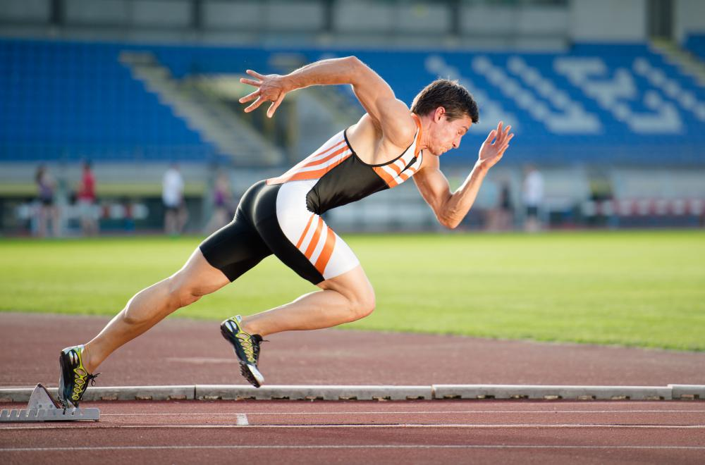 Sprints are runs over short distances.